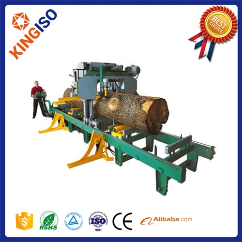 High quality horizontal band sawing machine electric engine MJ650H woodworking machinery