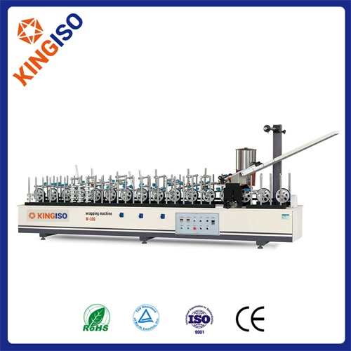 High quality wood machine BF300B-II Profile Wrapping Machine of Hot Melt Glue High Matching