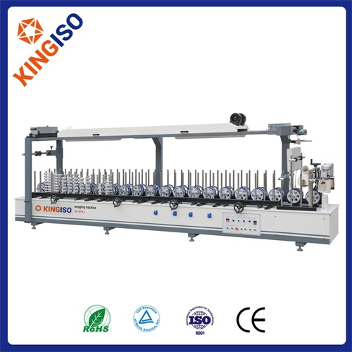 High quality wood machine BF450A Profile Wrapping Machine of Scraping Coating Type