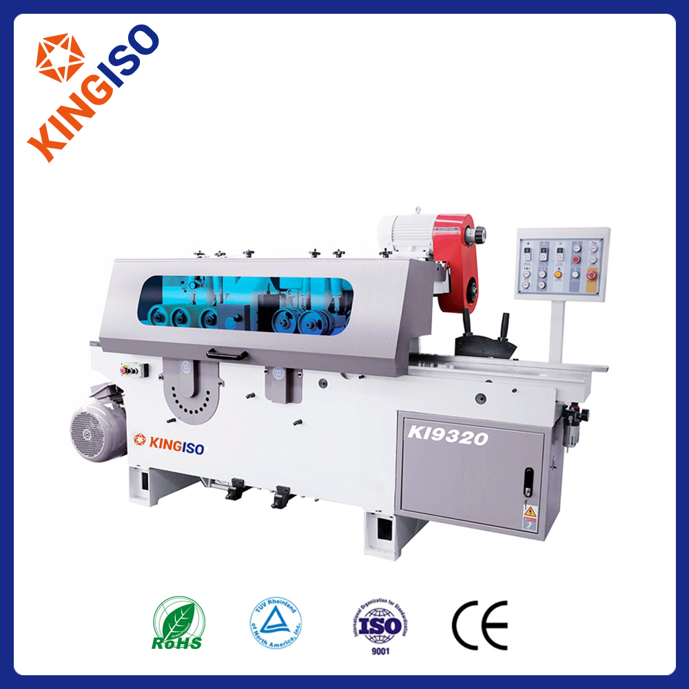 Woodworking double sides planer with multi blade saw KI9320