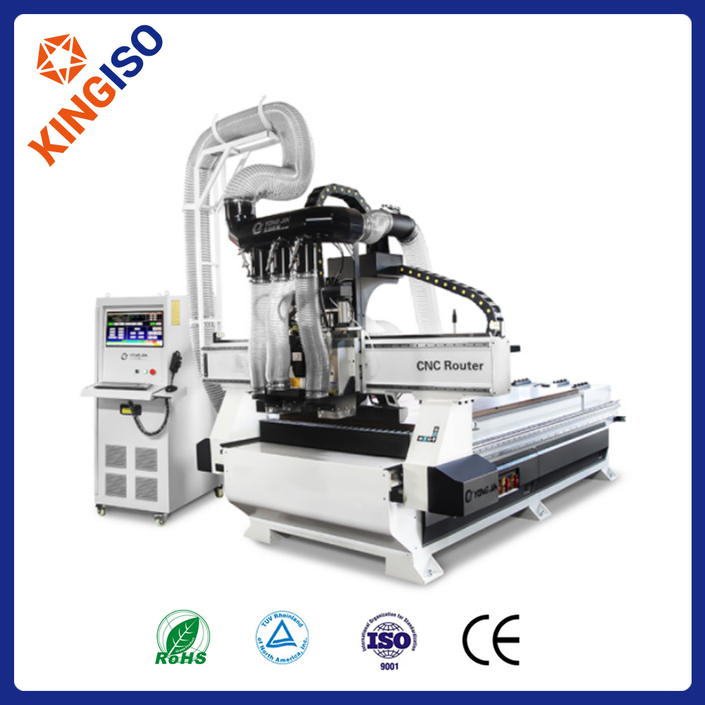 MJ-K9 CNC Cutting Machine  Double Spindle + Nine Vertical Drill Group